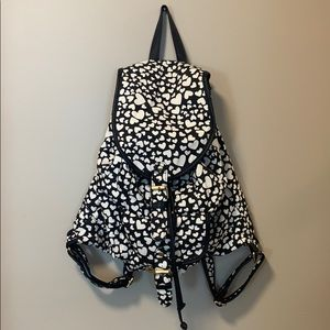 Black and white heart backpack